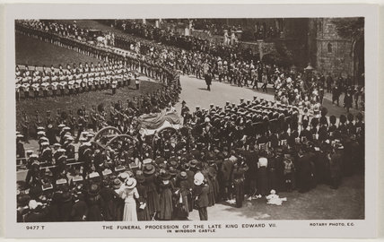 'The Funeral Procession of the Late King Edward VII in Windsor Castle.'