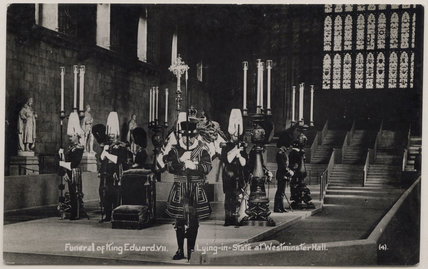 'Funeral of King Edward VII - Lying-in-State at Westminster Hall'