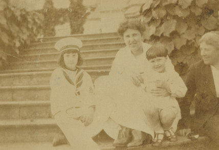 Barbara Strachey (Hultin, later Halpern); Ray Strachey; Christopher Strachey; Mary Berenson (née Smith)
