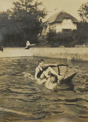 John Strachey; Barbara Strachey (Hultin, later Halpern)