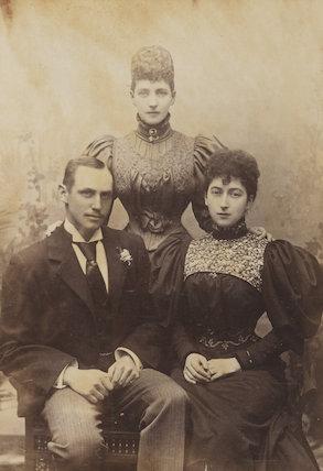 Haakon VII, King of Norway; Queen Alexandra; Maud, Queen of Norway