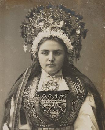 'A Norwegian Bride at Hardangerfjord'