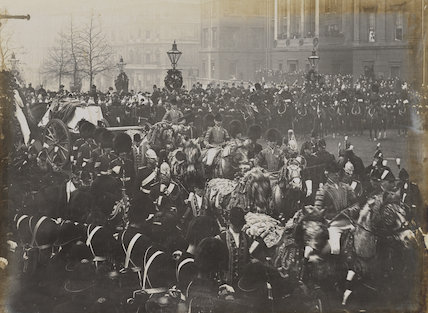 Queen Victoria's funeral procession at Hyde Park Corner
