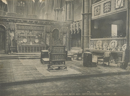 Coronation Chair and Royal Box, Westminster Abbey