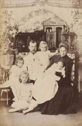 Nicholas II, Emperor of Russia with his family
