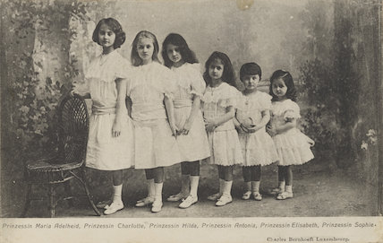 The daughters of William IV, Grand Duke of Luxembourg