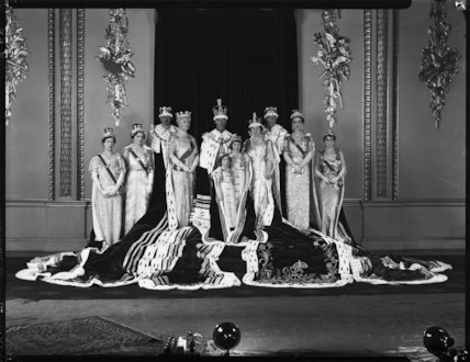 Royal group on the occasion of the coronation of King George VI