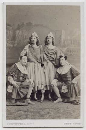 The Webb Brothers, John Nelson and George James Vining in 'The Comedy of Errors'