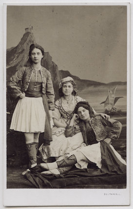 Miss Betts, Miss Lind and Miss Seymour in 'Beautiful Haidee'