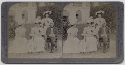 'T.E. the Earl and Countess of Minto, and Ladies Eileen and Ruby Elliot, Gov. House, Calcutta'