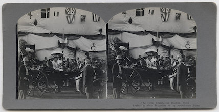 'The Delhi Coronation Durbar, India. Arrival of their Majesties to lay Foundation Stone'