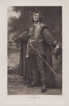 William Mollison as Pistol in 'Henry V'