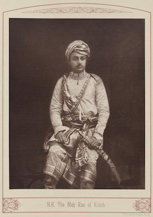 Sir Khengartji Savai, Maharao of Cutch