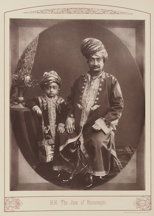 Sir Vibhaji Ranmalji, Jam Sahib of Navanagar with his son