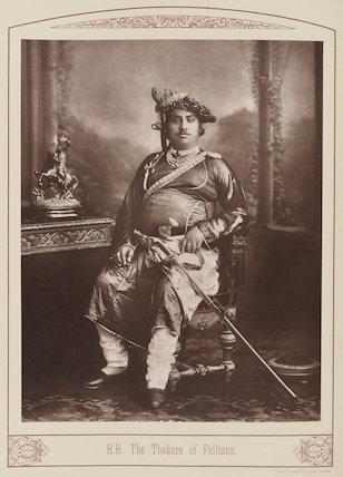 Thakur Saheb Sir Mansinghji Sursinghji of Palitana