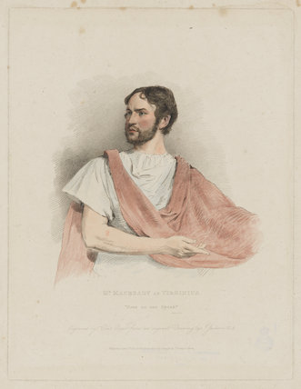 William Charles Macready as Virginius
