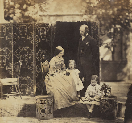 Arthur Perceval Purey-Cust with his wife and two younger children