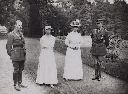 King George V; Elisabeth of Bavaria, Queen of Belgium; Queen Mary; Albert I, King of the Belgians