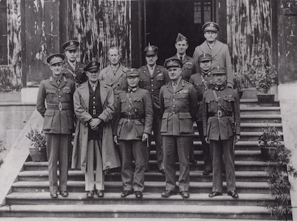 Archibald Percival Wavell, 1st Earl Wavell, George Brett and Allied officers meeting at Chungking