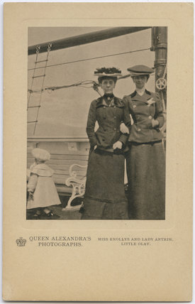 Olav V, King of Norway; Hon. (Elizabeth) Charlotte Knollys; Louisa Jane (née Grey), Countess of Antrim
