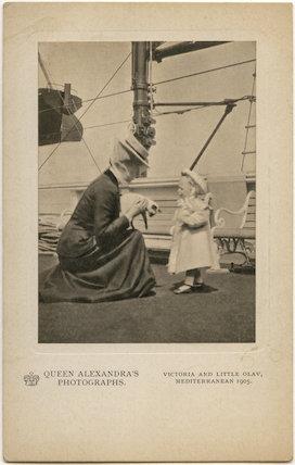 Princess Victoria of Wales; Olav V, King of Norway