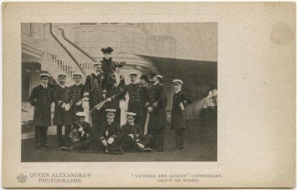 Group on board HMY Victoria and Albert, Copenhagen