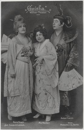 Dora Hrach; Mia Werber and Anton Franck in 'Geisha'
