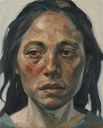 Portrait of Beyza by Mustafa Ozel