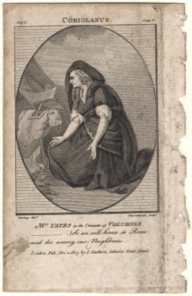 Mary Ann Yates as Volumnia in 'Coriolanus'