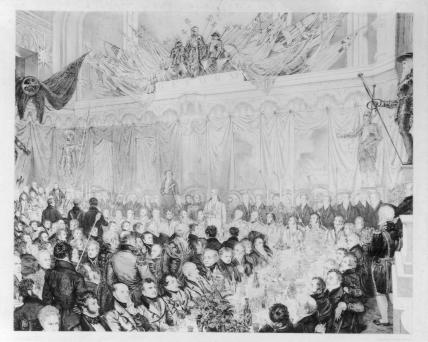 The Reform Banquet at Guildhall, July 11th 1832