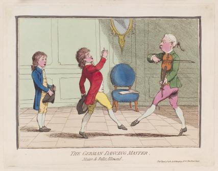 'The German dancing master'