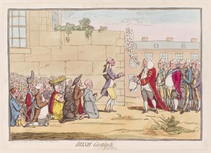 'Irish gratitude' (Henry Flood?; Henry Grattan; Edmond Sexton Pery, Viscount Pery)