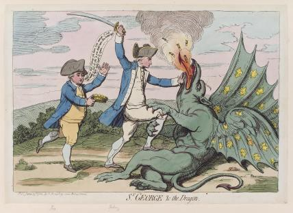 'St George and the dragon' (Charles James Fox; George Bridges Rodney, 1st Baron Rodney)