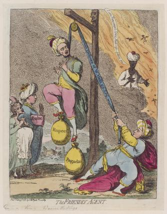 'The friendly agent' (Sophia Charlotte of Mecklenburg-Strelitz; King George III; Warren Hastings; John Scott-Waring)