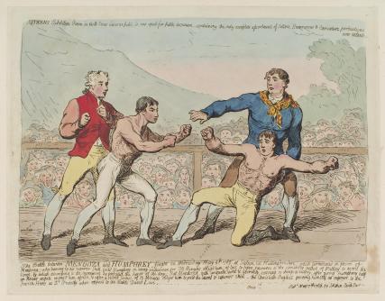 'The battle between Mendoza and Humphrey...' (Daniel Mendoza; Richard Humphries)