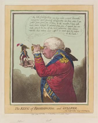 'The King of Brobdingnag, and Gulliver' (Napoléon Bonaparte; King George III)