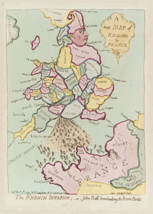 King George III ('The French invasion; - or - John Bull, bombarding the bum-boats')