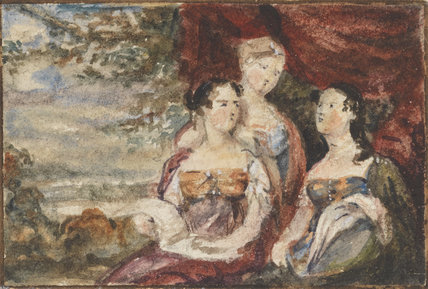 Mary Gardiner, Harriet Gardiner and Louisa Gardiner; Daughters of Colonel Thomas Gardiner