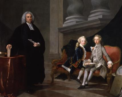 Francis Ayscough with the Prince of Wales (later King George III) and Edward Augustus, Duke of York and Albany