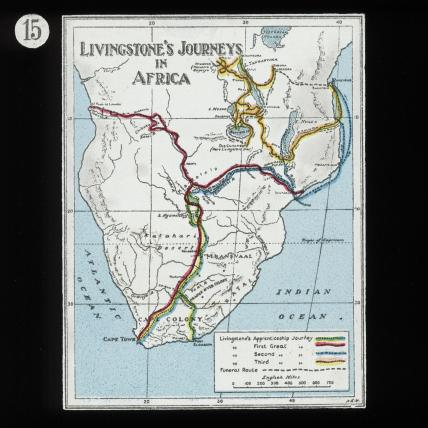 Map Of David Livingstone S Travels In Africa