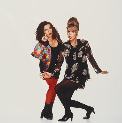 Joanna Lumley; Jennifer Saunders as Edina and Patsy in 'Absolutely Fabulous'