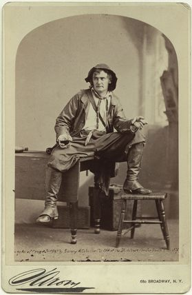 Joseph Jefferson as Rip van Winkle in 'Rip van Winkle'