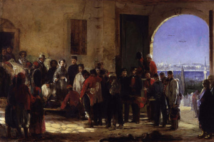 Florence Nightingale receiving the Wounded at Scutari'