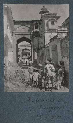 'The deserted city of Sangenar near Jaipur'