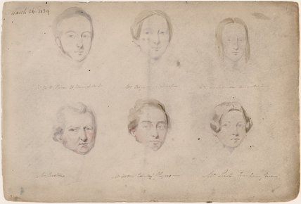 W.C.H. Price; Mrs Ferguson; Mr Watson; Mrs Leach; possibly Mr Corstons and an unknown woman