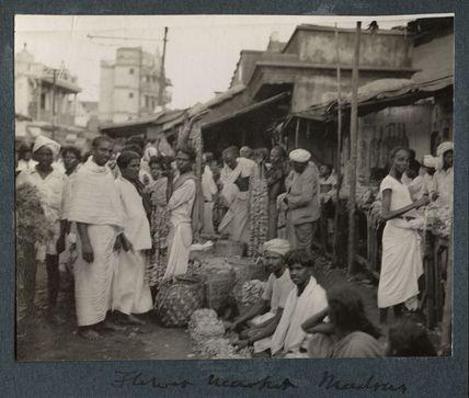 'Flower Market, Madras'