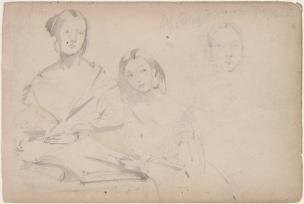 Two unknown women and a third face study (Miss Roberts?)