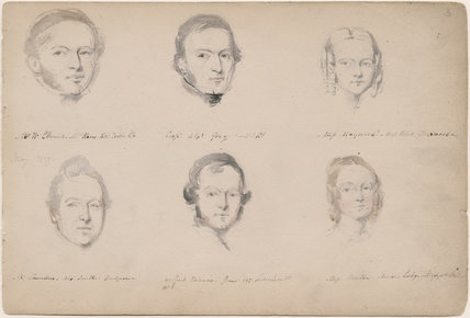 W.W. Ellwood; Alexander Gray; Miss Maynard; possibly Saunders Alex Smith; possibly Peart Robinson; Miss Boston