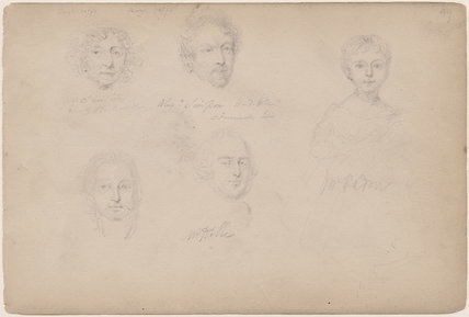 Possibly Mrs Smithers; possibly Alexander Simpson and three unknown sitters including a young girl