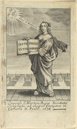 Frontispiece to 'Institutio Philosophiae'